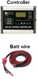Charge controller & battery wire