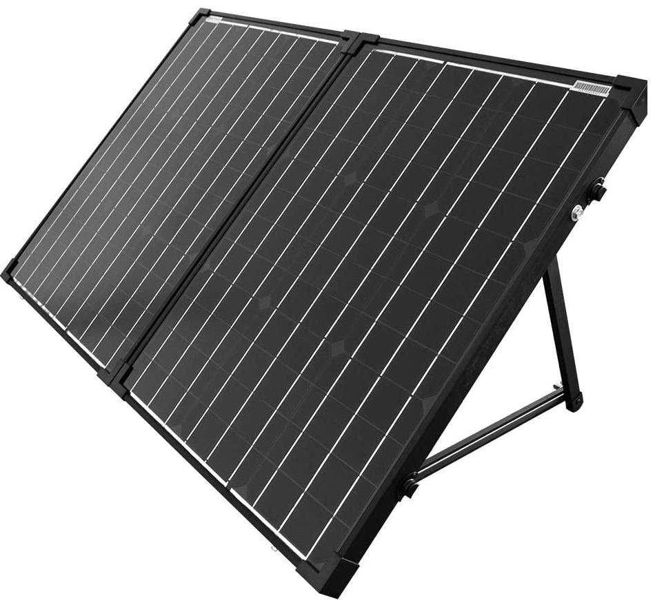 100 Watt foldable solar panel with kickstands