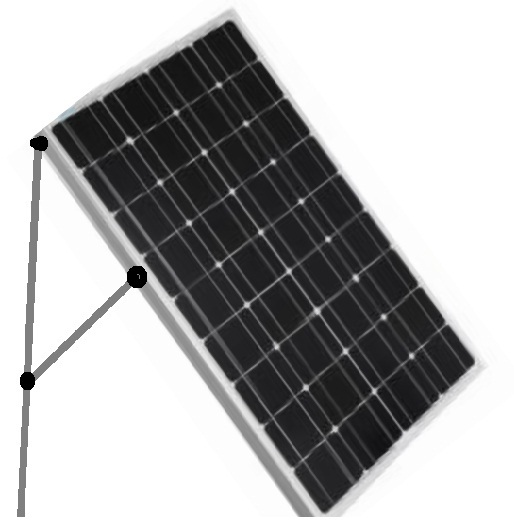 Legs Attached to Panel