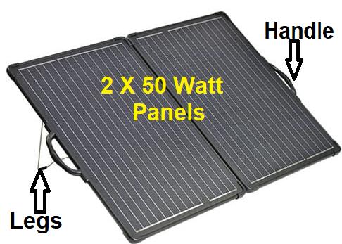 100W folding solar panel kit