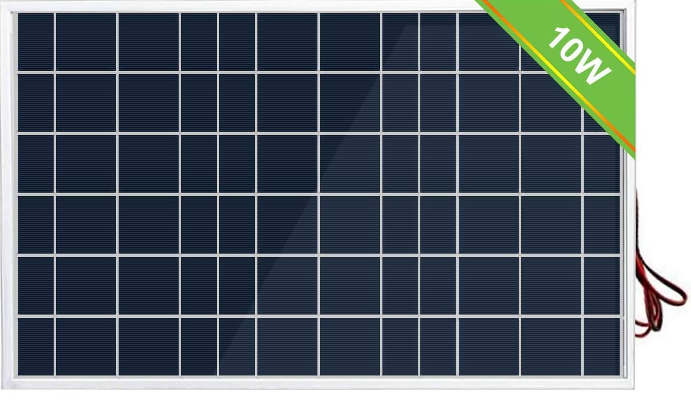 10 Watt solar panel 12v battery charger