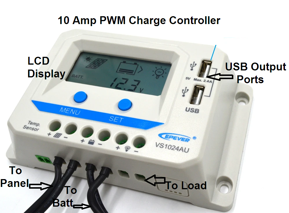 10 Amp PWM Charge Controller