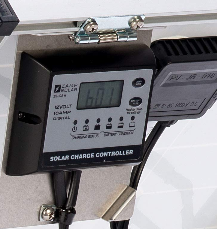 Charge Controller on Easy-View Bracket.