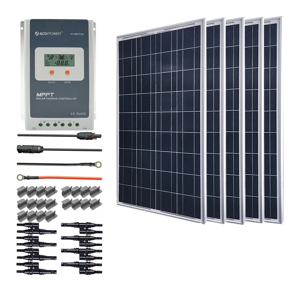 ACOPOWER 500W Solar Panel Kit