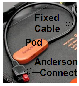 Pod with cable and Anderson-connector end