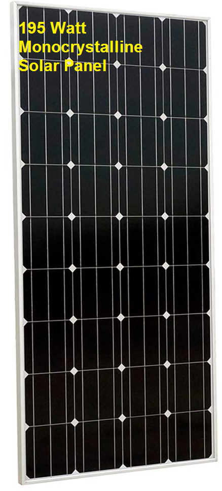 Eight 195-watt panels to produce 1500 Watts.