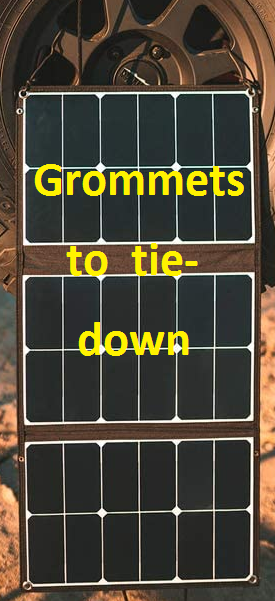 Grommets to tie it down