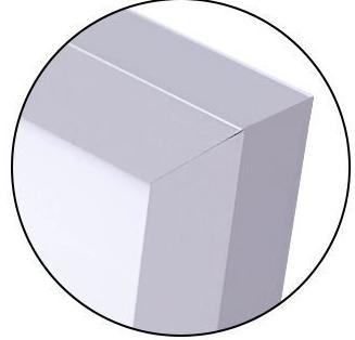 Lightweight Anodized Aluminum Frame.