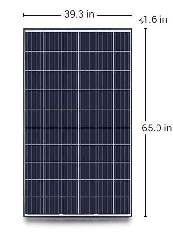 270W Solar Panel Size