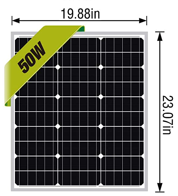 50 Watt Solar Panel Measurements