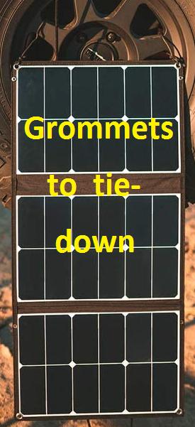 Grommets to tie it down