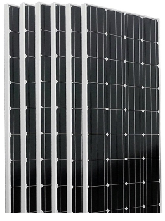 Six pieces of Monocrystalline 160 watt solar panels.