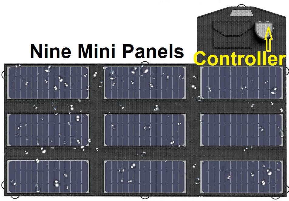 70 Watt portable solar panel