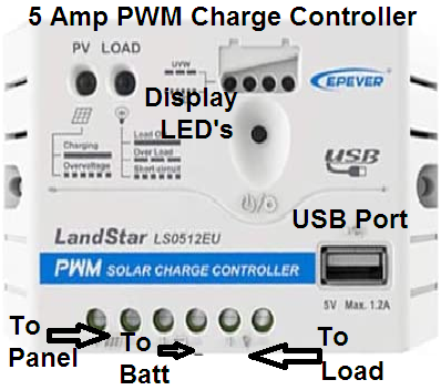 5 Amp PWM Charge Controller