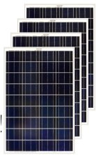Four pieces of Polycrystalline 100 watt solar panels.