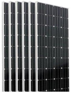 Six pieces of Monocrystalline 160 watt solar panels.